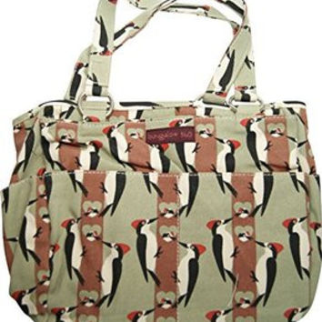 New Design! Bungalow360 Canvas Vegan Pocket Bag (Woodpecker)