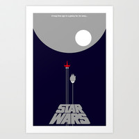 Star Wars- A New Hope II Art Print by IIIIHiveIIII