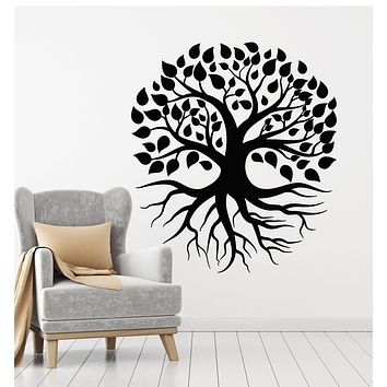 Vinyl Wall Decal Tree Nature Leaves Roots Living Room Stickers Mural (g715)