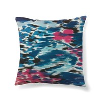 Textured ikat in blue and pink