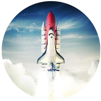 Blast Off Circle Wall Decal