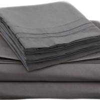 Grey Color Egyptian Bed Sheet