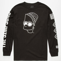 Neff The Simpsons Steezy Bart Mens T-Shirt Black  In Sizes
