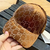 GUCCI Fashion New More Letter Print High Quality Sunscreen Cap Hat Fisherman Hat Coffee