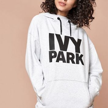 Ivy Park Oversized Logo Hoodie at PacSun.com - gray | PacSun