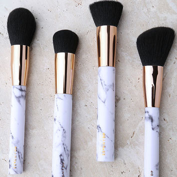 Skinnydip London Shut the Contour Marble Makeup Brush Set