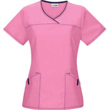 Walmart: Scrubstar Sunset Rose V-Neck Scrub Top