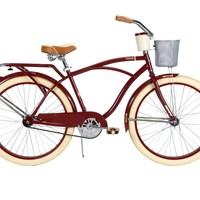 Huffy Bicycle Company Men's Cruiser Deluxe Bike, Vintage Burgundy