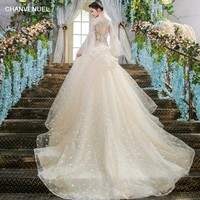 LS00399 sexy wedding dress from China online wedding gown dress bridal long tail wedding dresses cathedral  wedding gowns 2018