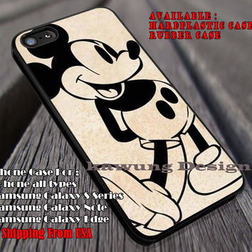 Retro Cartoon Art, Mickey, Disney, Cartoon Character, Mouse Cartoon, Vintage, case/cover for iPhone 4/4s/5/5c/6/6+/6s/6s+ Samsung Galaxy S4/S5/S6/Edge/Edge+ NOTE 3/4/5 #cartoon #animated #disney #MickeyMouse ii