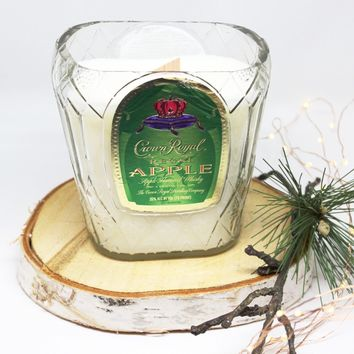 Crown Royal Apple Candle