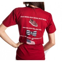 Boat Shoes, Bow Ties and America Tee Shirt in Crimson by Anchored Style