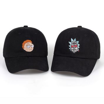cc auguau Rick & Morty Enbroidered Dad Hat