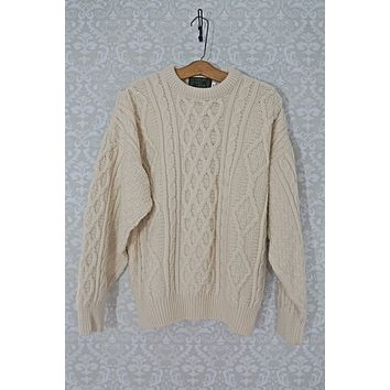Vintage Fisherman  Irish Knit Aran Sweater