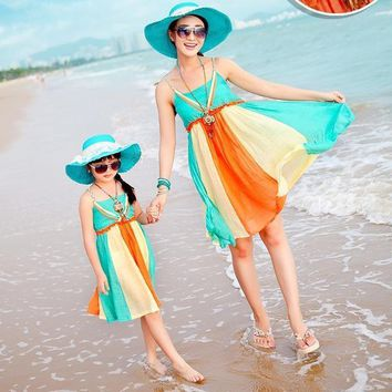 Women's Fashion Bohemian Beach Dress For Daughter