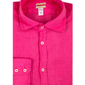 Massimo Alba Bright Pink Solid Shirt