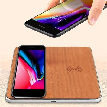 Happy Birthday Gifts For Men Qi Wireless Charger Fast Wireless Charging Pad | Dual Wooden Fast QI Wireless Charger