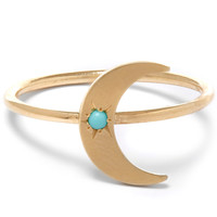 Andrea Fohrman Gold Turquoise Crescent Moon Ring | Accessories | Liberty.co.uk