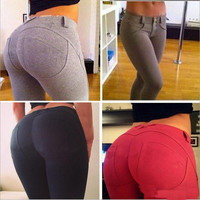 Leggings Slim Fitness Hip Push Up High Waisted Elastic Legging Pants