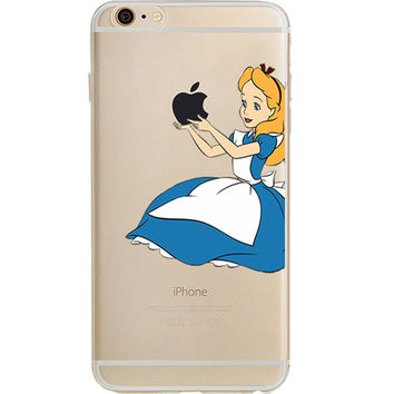 "Disney's Alice in Wonderland Jelly Clear Case For Apple 6/6s (4.7"")"