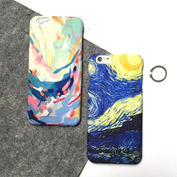 Van Gogh's night sky phone case for iphone 5 5s SE 6 6s 6 plus 6s plus + Nice gift box 072701