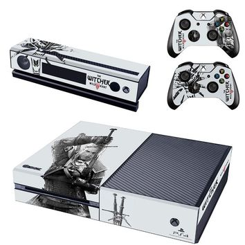 New The Witcher 3 Wild Hunt  Vinyl Skin Stickers Wrap Cover for Xbox One Console & 2 Controllers