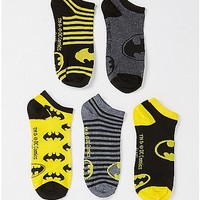 Batman No Show Socks 5 Pair - DC Comics - Spencer's