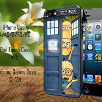 Despicable Me Minion In Dr Who Tardis Call Box iPhone 4/4S/5/5S/5C Case, iPod Touch 4/5 Case, Samsung Galaxy S3/S4 Case