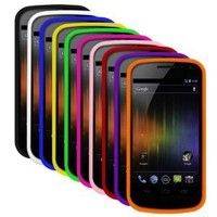 Cbus Wireless Seven Silicone Cases / Skins / Covers for Samsung Galaxy Nexus / SCH-i515 - Black, White, Blue, Yellow, Green, Light Pink, Red