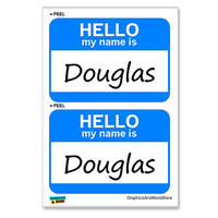 Douglas Hello My Name Is - Sheet of 2 Stickers