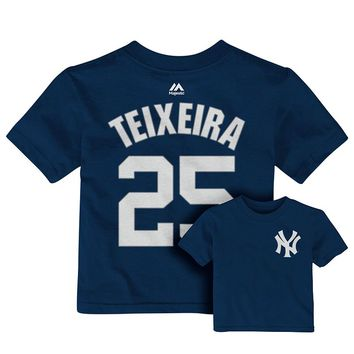 Majestic New York Yankees Mark Teixeira Player Name and Number Tee - Baby, Size: