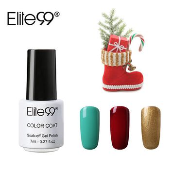 Elite99 3 Pieces/lot UV Gel Varnish for Christmas Nail Art Design 7ml Soak Off Nail Gel Polish Lacquer Cured With UV LED Lamp
