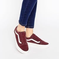Vans Burgandy Old Skool Sneakers