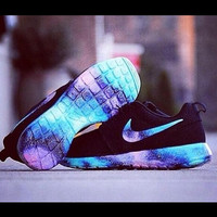 Men's Nike Roshe Full Galaxy Custom Shoe