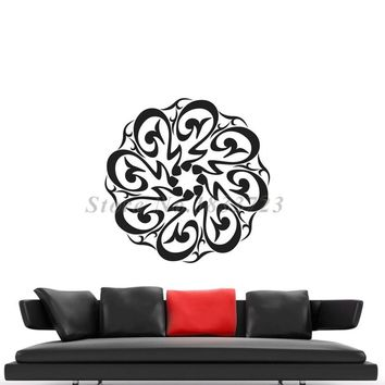 Arabic Muslim Allah Wall Stickers Vinyl Art Living Room Sofa Background Wall Decals Islamic Calligraphy