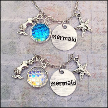 I'm A Mermaid Necklace, I'm Really A Mermaid Jewelry, Mermaid Jewelry, Mermaid Scales Jewelry, Fish Scale Jewelry, Ocean Jewelry