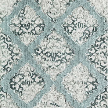 Momeni Rugs Area Rug Serene Collection SRE-2 Seafoam