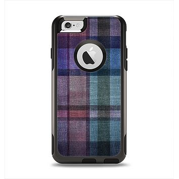 The Multicolored Vintage Textile Plad Apple iPhone 6 Otterbox Commuter Case Skin Set