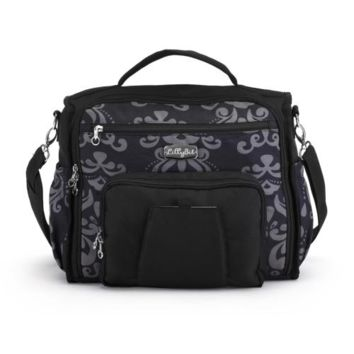 Demdaco damask messenger backpack diaper bag