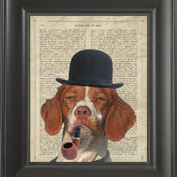 A Sherlock Dog  - Printed on love page  -  250Gram paper.