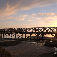 Sunset At The Wooden Bridge