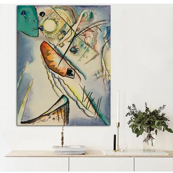 Canvas Art Print Poster Abstract Wassily Kandinsky 34 Oil Painting Wall Pictures For Living Room Home Decor No Frame