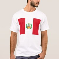 T Shirt with Flag of Peru