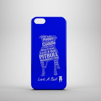 LOVE A BULL PITBULL BLUE Custom Case for iPhone 6 6 Plus iPhone 5 5s 5c GalaxyS 3 4 & 5 6 and Note 3 4 5