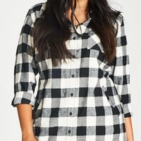 Longline Boyfriend Shirt | City Chic USA 115620BLACK