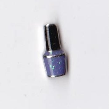 Purple Nail Polish Floating Charm