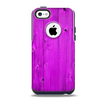 The Purple Highlighted Wooden Planks Skin for the iPhone 5c OtterBox Commuter Case