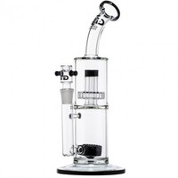 Grace Glass - Limited Edition Bong with Stone Diffuser & Slit Diffuser Perc - Black