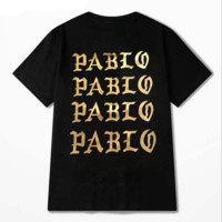 the life of pablo black t shirt