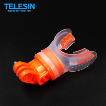 TELESIN Gopro Mouth Mount Surfing Skating Shoot Dummy Bite Mouthpiece Holder Adapter For GoPro Hero 4 3+ 3 2 1 SJ4000 Xiaomi Yi